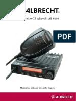 Manual Statie Radio Cb Albrecht Ae 6110 Limba Engleza