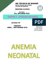 Anemia e Ictericia Neonatal