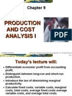Costs and Productivity