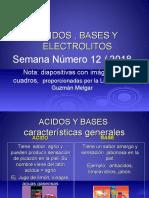 Acidos Bases y Electrolitos