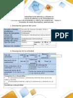 Guía de actividades y rúbrica de evaluación - Tarea 2 - Creación de texto descriptivo, autorretrato (2).docx