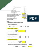 Análisis de CVU y Punto de Equilibrio de Un Producto