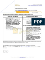 Yocket Loan Assistance Documents Required