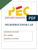 Microprocessor lab