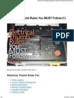 Thumb Rules 1