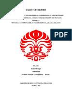 Case Study Report (CSR) - Prapid Kukuh