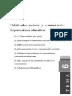 Tema6 Habilidades Sociales y Comunicación. Repercusiones Educativas