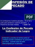 Lección 3, La Confesión de Pecado