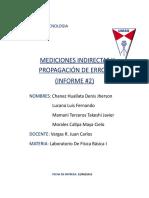 Informe 2 Mediciones Indirectas x Jher