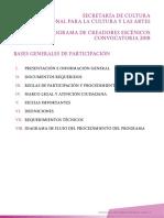 Bases Creadores Escenicos 2018