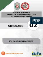 Simulado 02 Soldado - Pm_cbm_pb