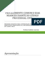 Procedimento comum e suas nuances segundo o Código de Processo Civil