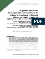 Las Grandes Dificultades de La Reparacion Administrativa de Las Victimas de La Violencia en Colombia