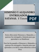 Himineo y Alejandro Entregados a Satanas