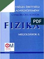 Egységes Érettségi Feladatgyűjtemény Fizika 2 Megoldások pdf