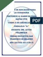 Examen de Ciudadania 1-P 1-Q Karen Bayas