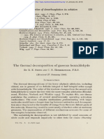 THe ThermAl DecomPosition of Gaseous Benzaldehyde