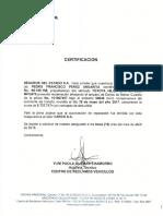 Certificacion Pago Deducible