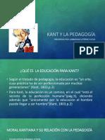 Kant y La Pedagogía