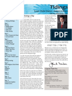 February 2009 Tidings Newsletter, Temple Ohabei Shalom