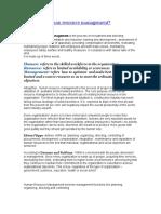 Human Resource Management Def Process Intro