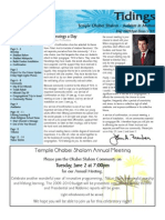 May 2009 Tidings Newsletter, Temple Ohabei Shalom