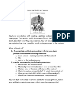 louis riel political cartoon - worksheet