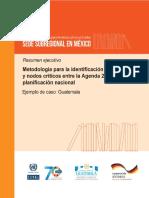 Metodología para la identificación de eslabones y nodos críticos entre la Agenda 3030 y la planificación nacional Ejemplo de caso