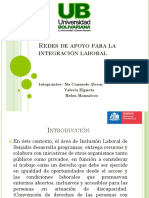 Redes de Apoyo Para La Integración Laboral
