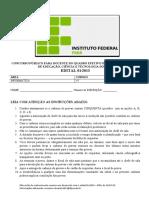 IFPA 2013 - INFORMÁTICA