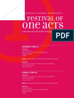 A Festival of One Acts Program