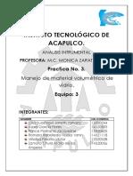 Manejo Del Material Volumetrico. Reporte 3