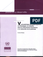 Vulnerabilidad Sociodemográfica en Nicaragua
