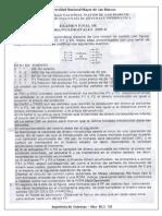 Examen Final de Circuitos Digitales 2009-II - Sumoso
