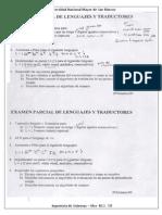 Examen Parcial Lenguajes y Traductores 2009 - Pariona