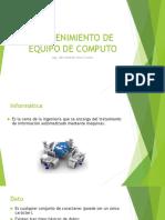 Presentación Unidad 1 Mantenimeinto de Equipo de Computo