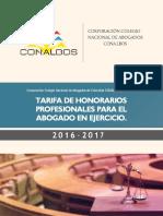 Tarifas conalbonos 2017