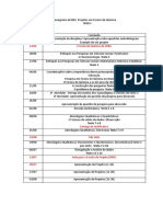 Projetos 2018.1 Cronograma