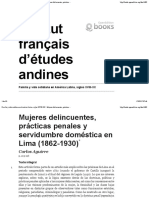 Aguirre_ Mujeres Delincuentes, Prácticas Penales y Servidumbre Doméstica en Lima (1862-1930)