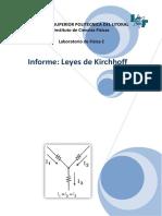 Informe Ley de Kirchhoff