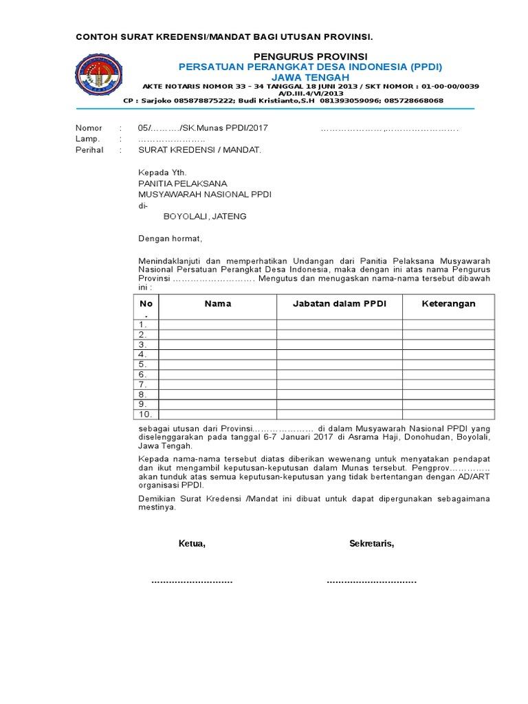 348738347 Contoh Surat Mandat Docxpdf