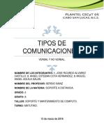 Tipos de Comunicaciones