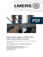 Fatigue failure analysis of fillet welded joints used in offshore structures