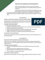 social work core competencies practice behaviors