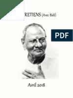 ENTRETIENS - AVRIL 2018 (LIVRE PDF)
