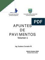 Apuntes de Pavimentos Volumen1 (Ing Gustavo Corredor )(Febrero 2011)
