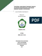Pengaruh Akuntansi Lingkungan Terhadap Kinerja Keuangan Dengan Pengungkapan Lingkungan Sebagai Variabel Intervening