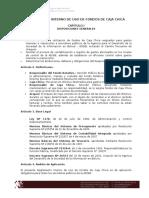 Reglamento de Fondos de Caja Chica - Digital