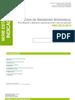 Indicadores Abandono Interanual Por Region Distrito Segun Anio de Estudio 2013 2014