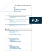 activities and evidence  web page